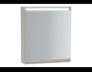 61238 - Frame Dolaplı ayna, 60 cm, Mat Bej, sol