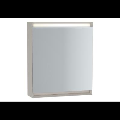 Frame Dolaplı ayna, 60 cm, Mat Bej, sol