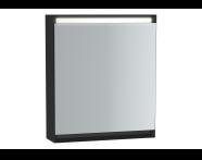 61240 - Frame Dolaplı ayna, 60 cm, Mat Siyah, sağ