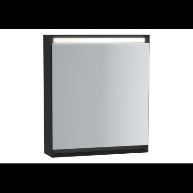 Frame Dolaplı ayna, 60 cm, Mat Siyah, sağ