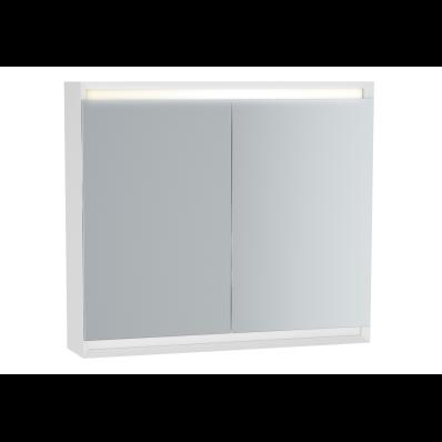 Frame Dolaplı ayna, 80 cm, Mat Beyaz