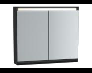 61243 - Frame Dolaplı ayna, 80 cm, Mat Siyah