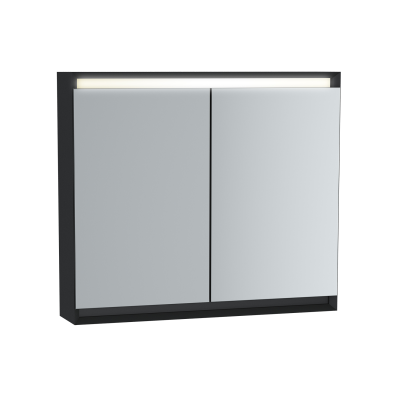 Frame Dolaplı ayna, 80 cm, Mat Siyah