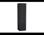 61252 - Frame Boy dolabı, açık üniteli, 40 cm, Mat Siyah, sol