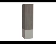 61253 - Frame Boy dolabı, açık üniteli, 40 cm, Mat Bej, sol