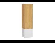 61254 - Frame Boy dolabı, açık üniteli, 40 cm, Mat Beyaz, sağ
