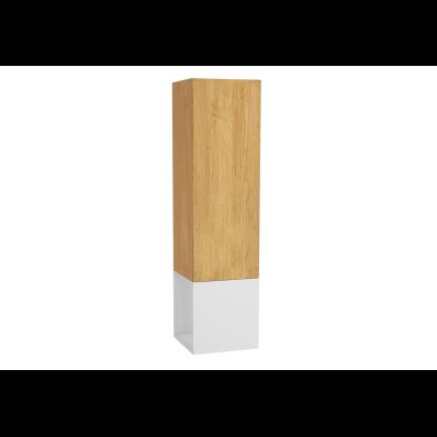 Frame Boy dolabı, açık üniteli, 40 cm, Mat Beyaz, sağ