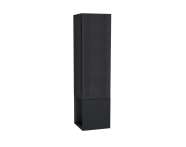 61255 - Frame Boy dolabı, açık üniteli, 40 cm, Mat Siyah, sağ