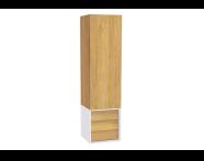 61260 - Frame Boy dolabı, çekmeceli, 40 cm, Mat Beyaz, sağ