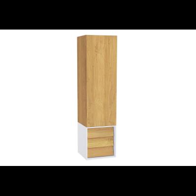 Frame Boy dolabı, çekmeceli, 40 cm, Mat Beyaz, sağ