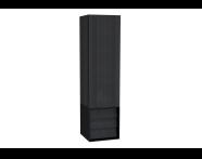 61261 - Frame Boy dolabı, çekmeceli, 40 cm, Mat Siyah, sağ