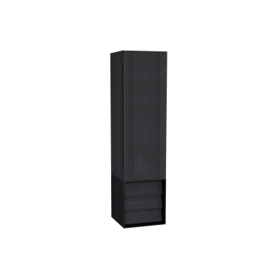 Frame Boy dolabı, çekmeceli, 40 cm, Mat Siyah, sağ