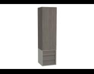 61262 - Frame Boy dolabı, çekmeceli, 40 cm, Mat Bej, sağ