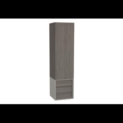 Frame Boy dolabı, çekmeceli, 40 cm, Mat Bej, sağ
