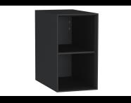 61270 - Frame Açık ünite, raflı, 30 cm, Mat Siyah