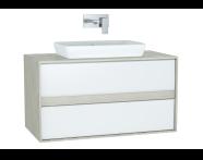 61285 - Metropole Washbasin Unit, 100 cm, with 2 drawers, Silver Oak
