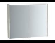 61293 - Metropole Mirror Cabinet, 80 cm, Silver Oak