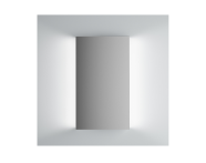 61305 - Brite Ayna, 40 cm, yanlardan aydınlatmalı