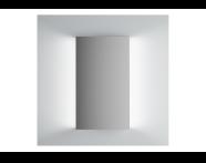 61305 - Brite Mirror, 40 cm, illuminated from sides
