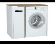 61364 - Sento çamaşır makinesi dolabı, 105 cm, mat beyaz, sol