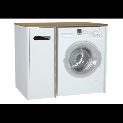 Sento çamaşır makinesi dolabı, 105 cm, mat beyaz, sol