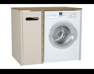 61365 - Sento çamaşır makinesi dolabı, 105 cm, mat krem, sol