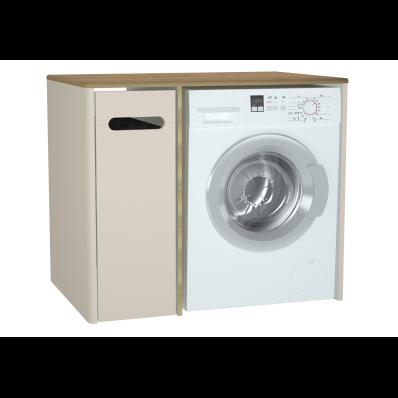 Sento çamaşır makinesi dolabı, 105 cm, mat krem, sol