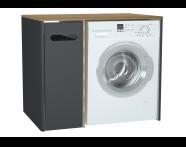61366 - Sento çamaşır makinesi dolabı, 105 cm, mat antrasit, sol