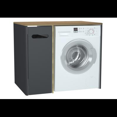 Sento çamaşır makinesi dolabı, 105 cm, mat antrasit, sol