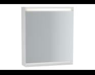 61404 - Frame Mirror Cabinet 60 cm, Matte White, Left