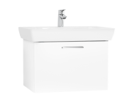 61436 - S20 Washbasin Unit, 65 cm, with 1 drawer, White High Gloss