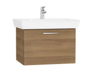 61437 - S20 Washbasin Unit, 65 cm, with 1 drawer, Golden Cherry