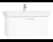 61438 - S20 Lavabo Dolabı, 85 cm, tek çekmeceli, Parlak Beyaz