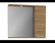 61447 - S20 Yandan Dolaplı Ayna, 80 cm, Altın Kiraz