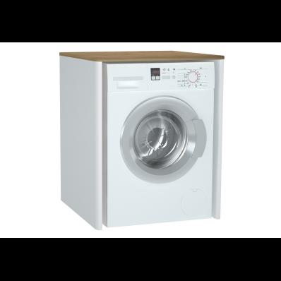 Sento Çamaşır Makinesi Dolabı, 70 cm, çamaşır sepetsiz, Mat Beyaz