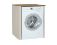 61521 - Sento Çamaşır Makinesi Dolabı, 70 cm, çamaşır sepetsiz, Mat Krem