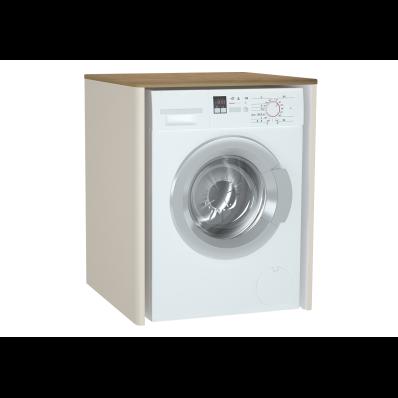 Sento Çamaşır Makinesi Dolabı, 70 cm, çamaşır sepetsiz, Mat Krem