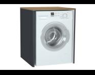 61522 - Sento Çamaşır Makinesi Dolabı, 70 cm, çamaşır sepetsiz, Mat Antrasit