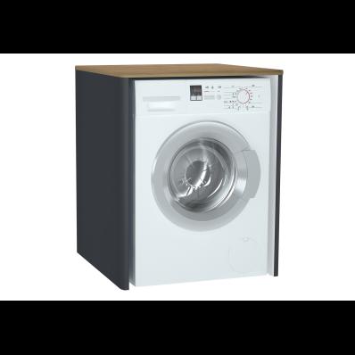 Sento Çamaşır Makinesi Dolabı, 70 cm, çamaşır sepetsiz, Mat Antrasit