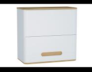 61523 - Sento Upper Cabinet, 70 cm, Matte White