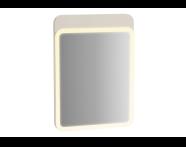 61651 - Sento Aydınlatmalı Ayna, 50 cm, Mat Krem