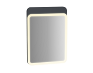 61653 - Sento Aydınlatmalı Ayna, 50 cm, Mat Antrasit