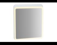 61654 - Sento Aydınlatmalı Ayna, 60 cm, Mat Beyaz