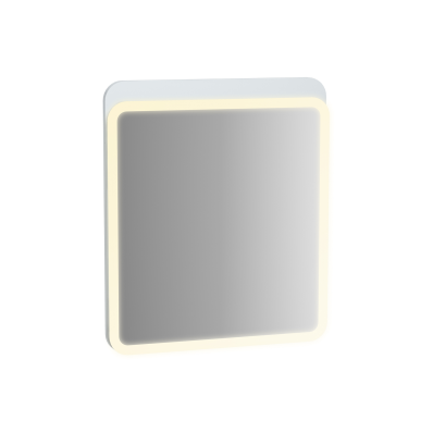 Sento Aydınlatmalı Ayna, 60 cm, Mat Beyaz