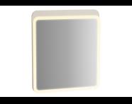 61655 - Sento Aydınlatmalı Ayna, 60 cm, Mat Krem