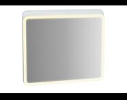 61657 - Sento Aydınlatmalı Ayna, 80 cm, Mat Beyaz