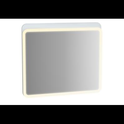 Sento Aydınlatmalı Ayna, 80 cm, Mat Beyaz
