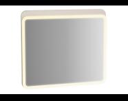 61658 - Sento Aydınlatmalı Ayna, 80 cm, Mat Krem