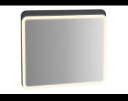 61659 - Sento Aydınlatmalı Ayna, 80 cm, Mat Antrasit