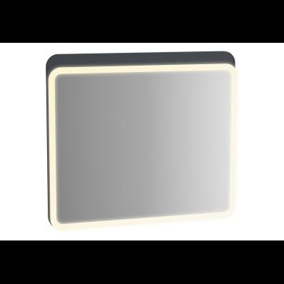 Sento Aydınlatmalı Ayna, 80 cm, Mat Antrasit